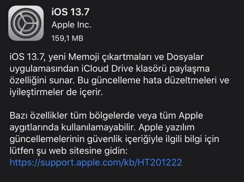 iOS-13-7-guncelleme-indir