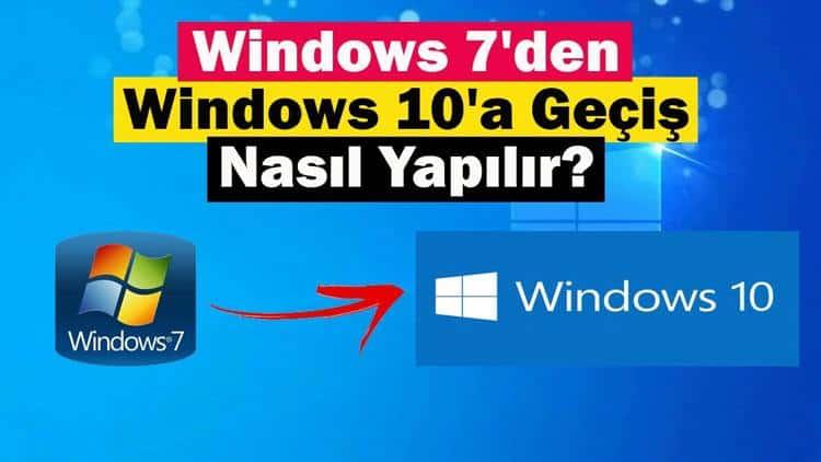 Windows 7,8'den Windows 10'a güncelleme